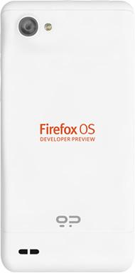 Dos du Gecksphone Peak avec Firefox OS