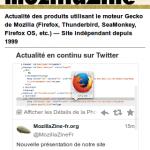 MozillaZine-fr nouvelle version vue sur mobile (smartphone)