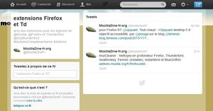 Fil d'actualités personnalisé sur les extensions sur Twitter