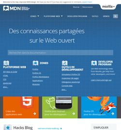 Nouveau look du MDN (Mozilla Developer Network)