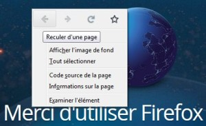 Icônes du menu contextuel de Firefox Nightly 33