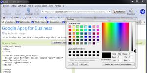 SeaMonkey 2.26 : Sélecteur de couleur pour input type=color