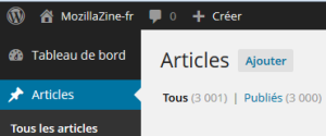 3 000 articles de MozillaZine-fr dans WordPress