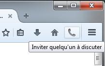Inviter quelqu'un à discuter dans Firefox 33 bêta